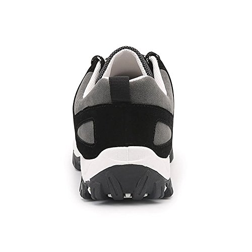 Easy Go Shopping Men's Flat Heel Lace up Athletic Sports Shoes Cricket Shoes Black LOKiURjbD4