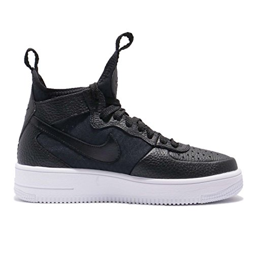 Nike Womens Wmns Air Force 1 Ultraforce Mid, Nero / Nero-bianco Nero / Nero-bianco