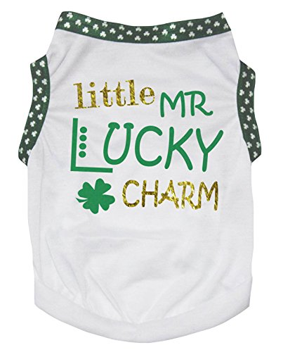 Petitebella Little Mr Lucky Charm Cotton Shirt Puppy Dog Clothes