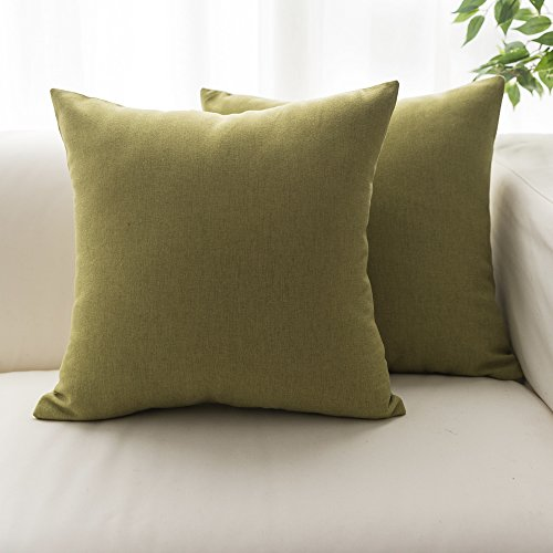 Lananans Set of 2, throw Pillow Covers Decorative Home Modern Cushion Cover for Couch, Sofa, Bedroom,2 Pack (OLIVE GREEN, Pack of 2)