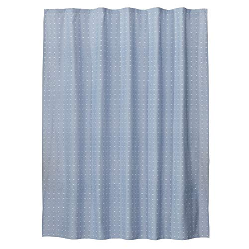 SKL Home by Saturday Knight Ltd. Chambray Squares Fabric Shower Curtain, Blue