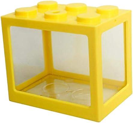 Serenable Mini pecera, pequeña pecera Betta pecera de acuario para medusas peces dorados , caja de decoración de -Varios colores 2