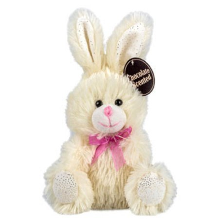 Chocolate-Scented Plush Stuffed Easter Bunny Rabbit with Ribbon 7 in. - OFF-WHITE - 1/pkg. by Greenbrier
