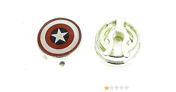Gemelolandia Cubrebotones Capitán América: Amazon.es: Ropa y accesorios