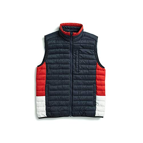 - Tommy Hilfiger Men's Adaptive Quilted Vest with Magnetic Zipper, navy blazer, Large