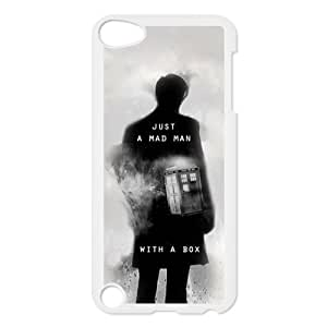 Stylish Doctor Who Tardis Design Case For iPod Touch 5,Doctor Who Tardis Pattern Hard Case for Apple ipod touch 5th Generation (Black/White)