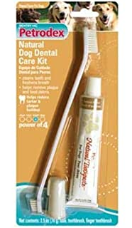 Amazon.com : Petrodex Sentry Nat Peanut Pet Dental Kit, 2.5-Ounce ...