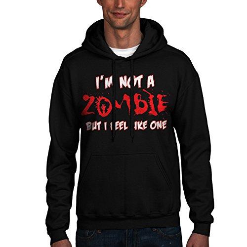 Wellcoda   Funny Zombie Quotes Horrible Mens NEW Hoodie Black XL