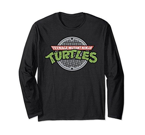 Unisex Nickelodeon TMNT sewer logo Long Sleeve T-shirt XL: (Ninja Turtles Logo T-shirt)