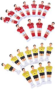 P Prettyia 22 Unidades de Muñequitos para Reemplazar Football Men de Futbolín de Mesa Hecho de Material Plástico Duro: Amazon.es: Deportes y aire libre