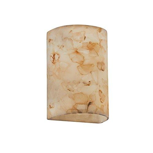 Justice Design Group Alabaster Rocks! 2-Light Wall Sconce - Shaved Alabaster Rocks Cast Into Resin - Rocks Light Alabaster 12