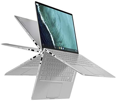 "ASUS Chromebook Flip C434 2-In-1 Laptop, 14"" Full HD Touchscreen 4-Way NanoEdge, Intel Core M3-8100Y Processor, 4GB RAM, 64GB eMMC Storage, All-Metal Body, Backlit KB, Chrome OS- C434TA-DSM4T, Silver"
