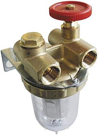 Oventrop Heizölfilter Zwei Leitungen Mit Absperrhahn Ig3 8 Mit Anschluss 2120103 Baumarkt