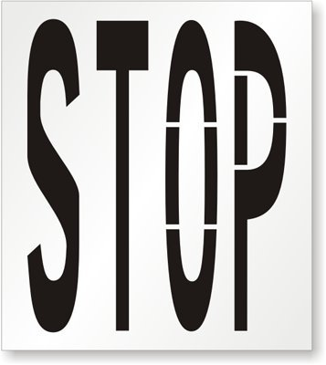 STOP Stencil, 54'' x 42'' by MyParkingSign