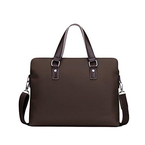 Business Oxford Diagonal Men's Casual Canvas Shoulder Section Handbag Bag Cross Brown Package Briefcase wBqUcYUpx5