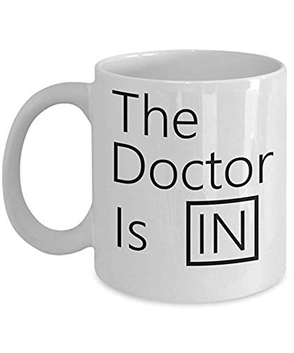The Doctor Is In Coffee Mug.Medical Doctors Psychiatrist Lucy From Peanuts-11OZ Coffee Mug -