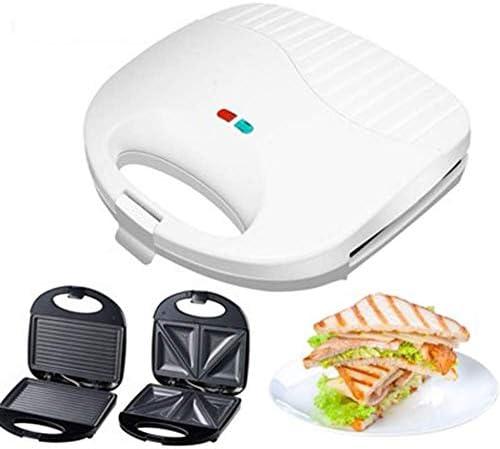 Logo 700W Place Gaufrier Fer Machine for Gaufres Individuel, paninis, Sandwich, rissolées, Revêtement Anti-adhésif Moule Profonde Plaques de Cuisson