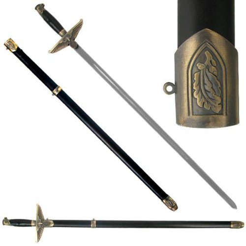 UPC 844296029464, Trademark 32.5-Inch German Sword with Eagle Handle & Leather Scabbard