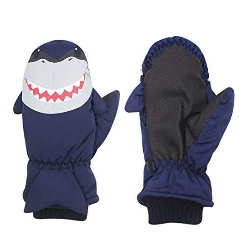 Kids Toddlers Waterproof Warmest Ski Snowboard Gloves Kids Winter Mittens,Animal