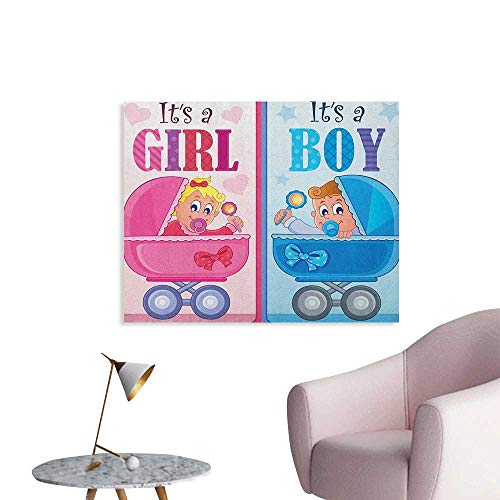 Gender Reveal Art Decor Decals Stickers Girl and