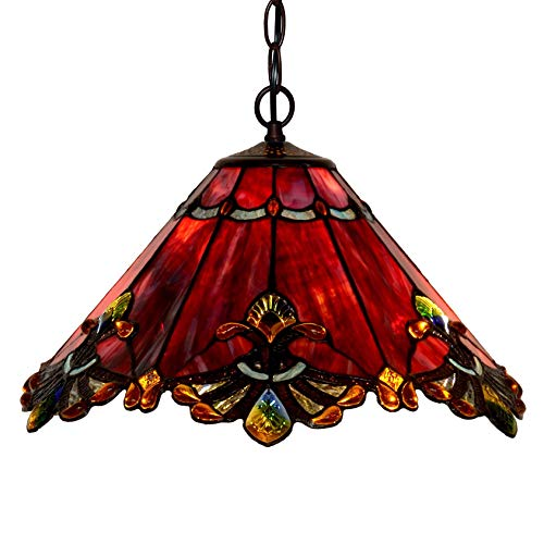 Pendant Light Red Glass in US - 4