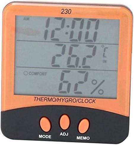 JJZXT Digital Wireless Hygrometer Innen Außen-Thermometer-Temperatur und Luftfeuchtigkeitsmesser-Monitor mit Hintergrundbeleuchtung LCD-Display und Feuchtigkeitsmessgerät