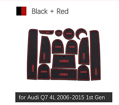 linfei Alfombrilla Antideslizante con Ranura para Puerta De Goma para Audi Q7 4L 2006-2015 S Line Accesorios