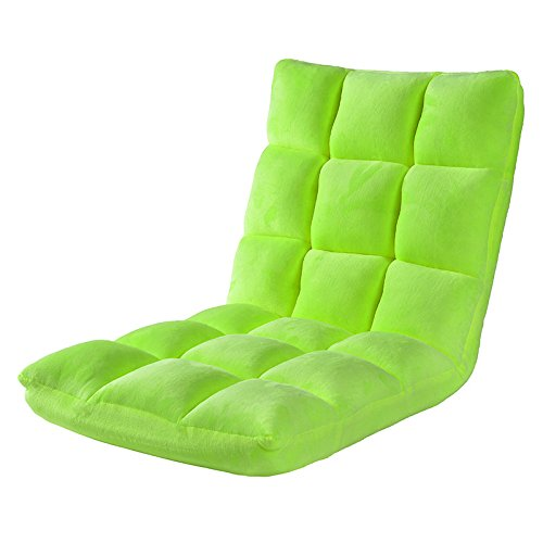 Do4U Home Adjustable Folding Lazy Sofa Six-Position Relax Floor Chair & Gaming Chair -Floor Cushion Multiangle Couch Beds for Watch TV/Gaming/Midday Rest/Nap (Lazy Sofa, Lawn Green)
