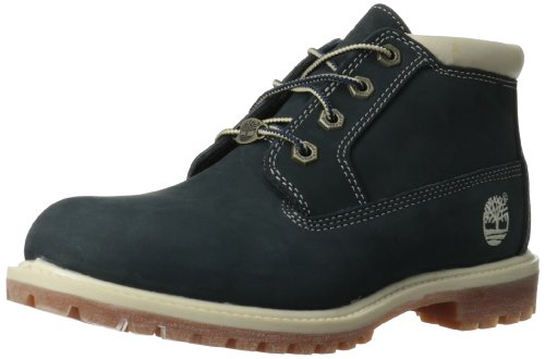Timberland Women's Nellie Double Waterproof Ankle Boot,Navy,8 M US