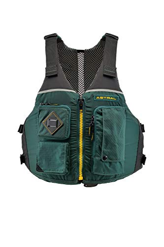 Astral Ronny Life Jacket PFD for Recreation, Fishing, and Touring Kayaking, Conifer Green, L/XL
