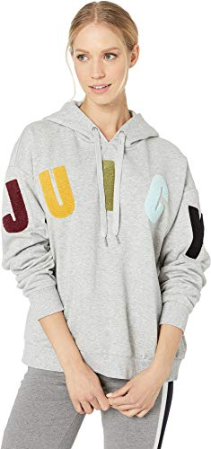 (Juicy Couture Women's Juicy Boucle French Terry Hooded Pullover Heather Cozy)