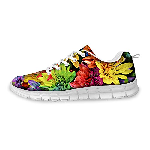 FOR U DESIGNS Vintage Rose Floral Print Womens Fashion Sneaker Comfortable Walking Running Shoes Multi A3 sTBjlYGNMs