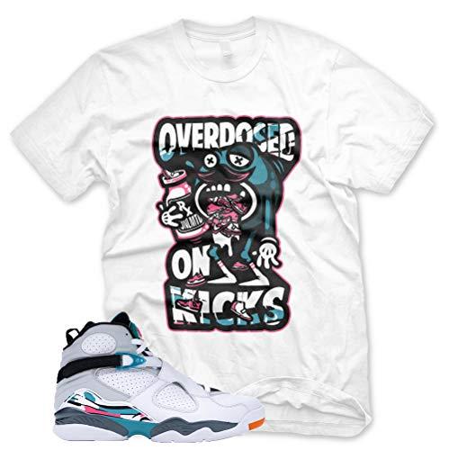 New OVERDOSED ON KICKS T Shirt for Jordan 8 Turbo Green South Beach Miami ()