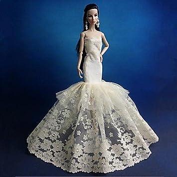 vestido de novia de estilo sirena muñeca barbie