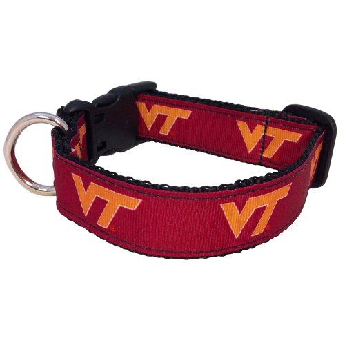 NCAA Virginia Tech Hokies Dog Collar, Maroon, X-Small