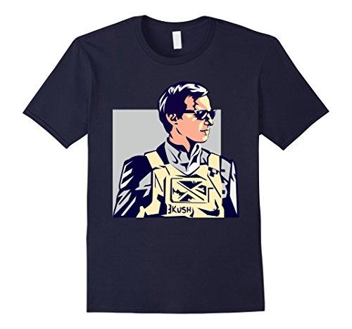 Mens Jared Kushner Bulletproof Vest Hi-Tech Artistic T-Shirt Medium Navy