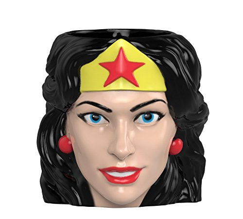 Zak Designs WWNF-8511 DC Comics Coffee Mugs, Sculpted, Wonder Woman Deal (Large Image)