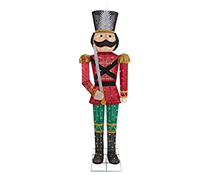 5 foot nutcracker toy soldier sculpture outdoor christmas porch yard lawn decoration seasonal display