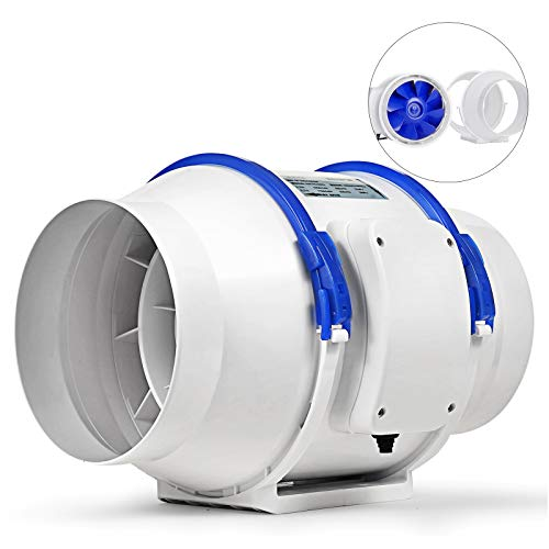 Mophorn Inline Duct Fan 6 Inch 310 CFM Mixed Flow Fan Exhaust Blower for Home Ventilation Bathroom and Grow Room Ventilation (6 Inch Bathroom Exhaust Fan)