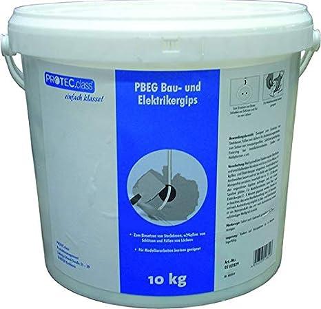 PROTEC.CLASS Bau- & Elektrikergips 10kg Eimer PBEG-2