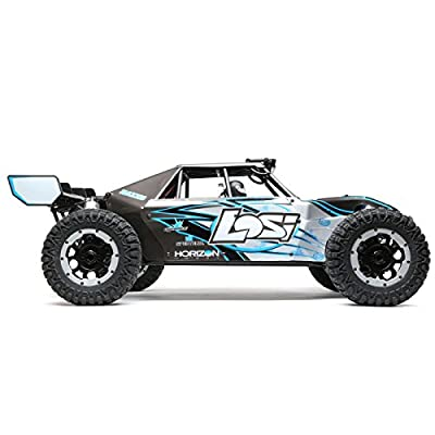 Losi 1/5 Desert Buggy XL-E 4WD Electric RTR with AVC, Gray/Blue