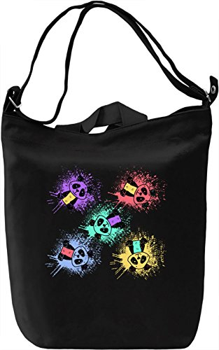 Colourful Bears Borsa Giornaliera Canvas Canvas Day Bag| 100% Premium Cotton Canvas| DTG Printing|