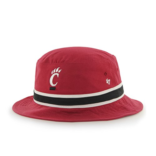 NCAA Cincinnati Bearcats '47 Brand Bright Striped Bucket Hat, One Size, ()
