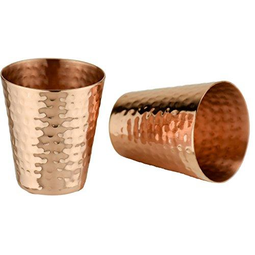 Hammered Cocktail Shaker (Prince of Scots Shot Glasses ~ Hammered Copper)