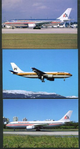 American Monarch Airlines Airbus A300 postcard group