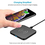 CHOETECH Wireless Charger, Qi Certified Ultra-Slim Wireless Charging Pad Compatible with iPhone XS Max/XS/XR/X/8/8 Plus,Samsung Galaxy S9/S9+/Note 9/8/S8, Google Pixel 3/3xl,LG G7, Qi-Enabled Devices