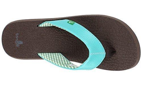 Sanuk Women's Yoga Mat Flip-Flop (8 B(M) US, A Qua) - Qua Print