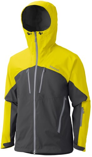 Price comparison product image Marmot Mens Cerro Torre Jacket, Slate Grey/Acid Yellow, Medium