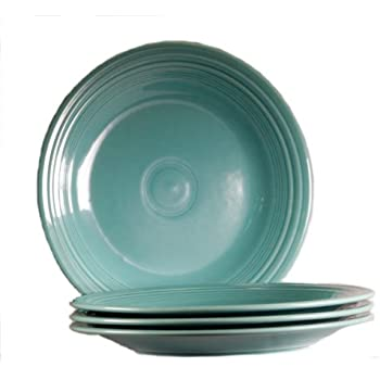 Fiesta 10-1/2-Inch Dinner Plate Turquoise Set of 4  sc 1 st  Amazon.com : fiesta dinner plate - Pezcame.Com