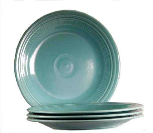 Fiesta 10-1/2-Inch Dinner Plate, Turquoise, Set of 4 -